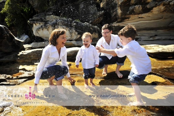 Natarsha Belling - Our Family Ambassador - with her family at Balmoral Beach